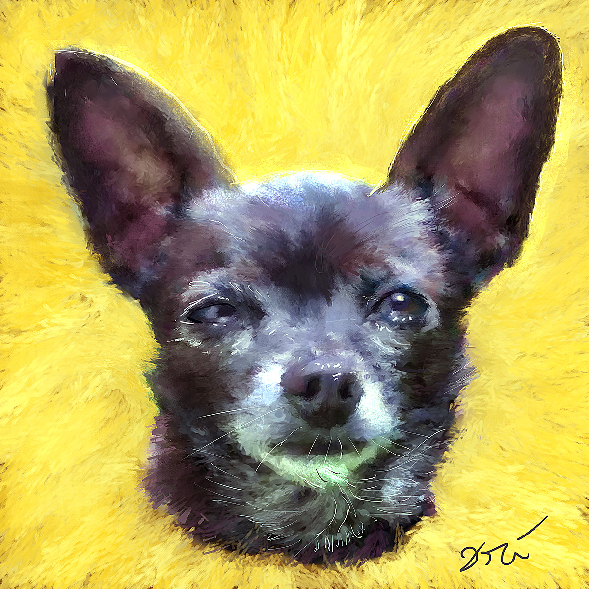 Dogs by Ori | Dog paintings and sculptures by Ori Bengal