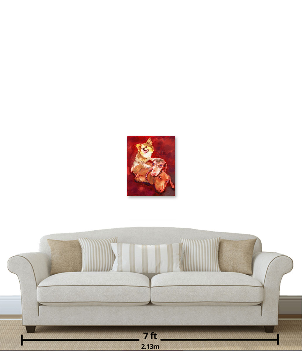 """16""""x20"""" Canvas over a 7 foot couch"""
