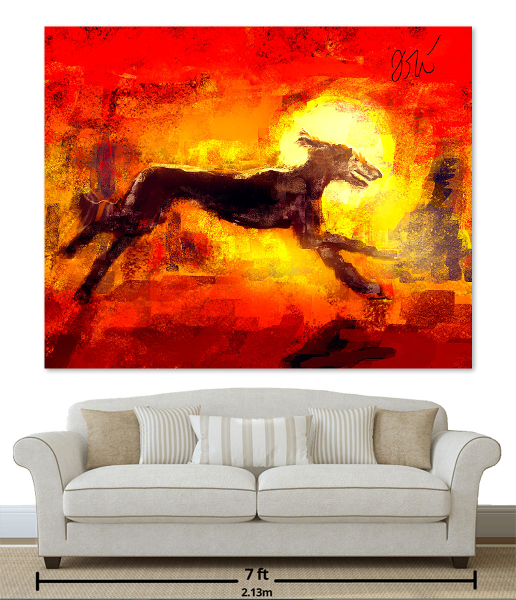 """60""""48"""" Canvas over a 7 foot couch"""